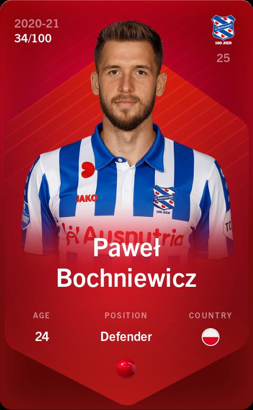 Paweł Bochniewicz 2020-21 • Rare 34/100