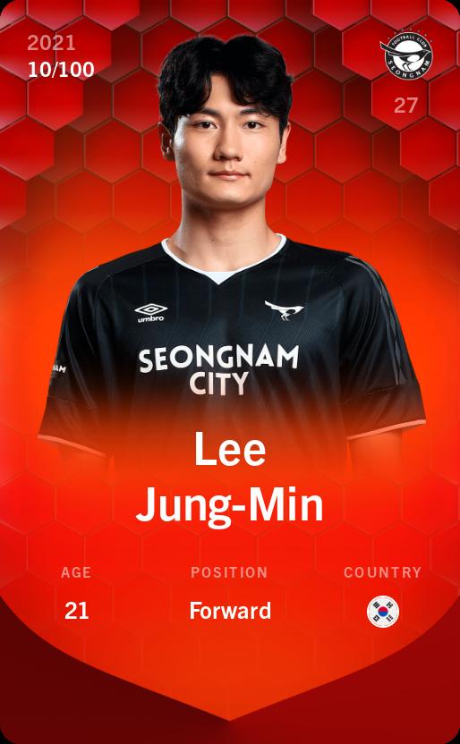 Lee Jung-Min 2021-22 • Rare 10/100