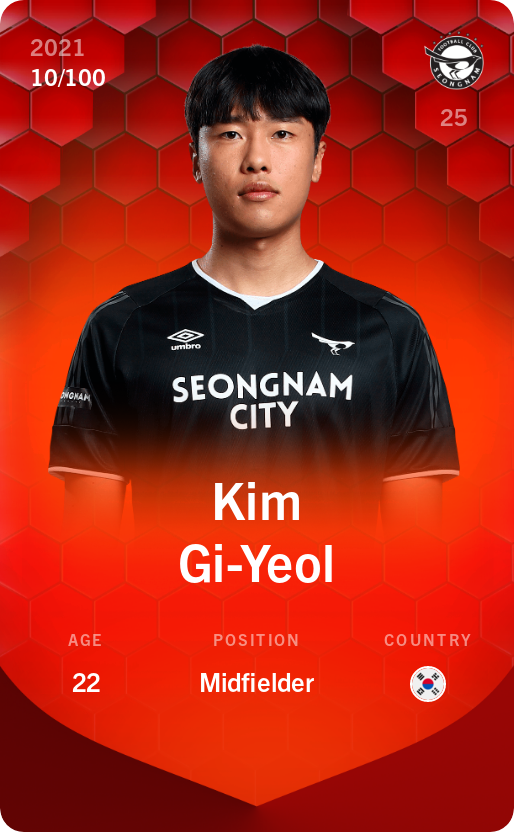 Kim Gi-Yeol 2021-22 • Rare 10/100