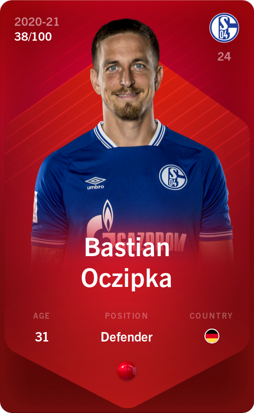 Bastian Oczipka 2020-21 • Rare 38/100